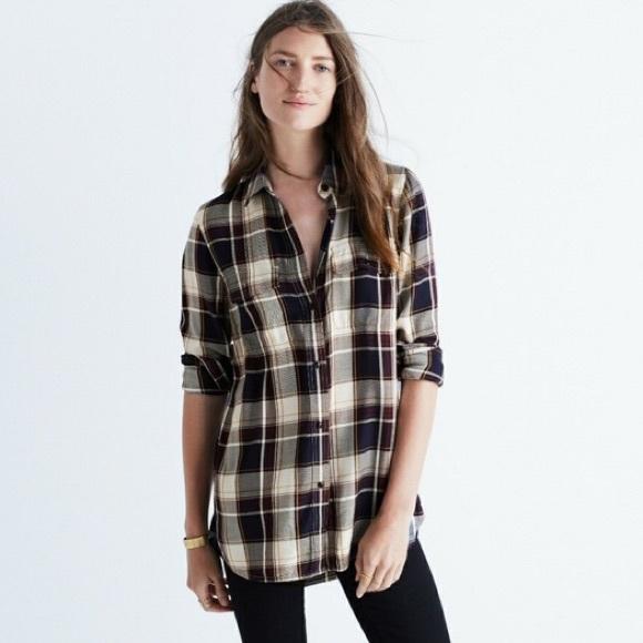 80380a8383c Madewell Tops - Madewell Ex Boyfriend Shirt in Hanna Plaid